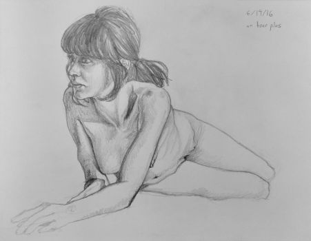 life-drawing-1-hour-foreshortening by MJTILLUSTRATION
