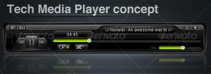 Tech Media Player concept by m1r1