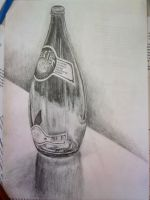 Perrier bottle by iMAGGInary