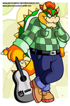 Commission - Bowser with a Acoustic by JamesmanTheRegenold