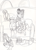 daily life in the lair by TMNTFAN85