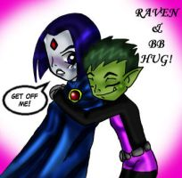 Raven and BB hug by Ivyro
