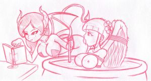 Demon Cooking Angel by canime