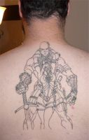 Tattoo of Gi Joe and Baroness by jamietyndall