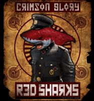 Red Sharks Shirt Layout by VoodooHammer