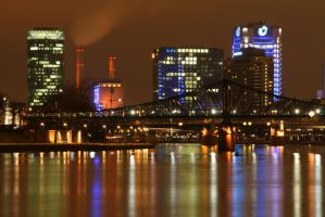 Colourful Frankfurt by kine80