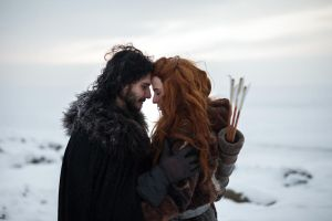 Jon Snow and Ygritte by Almost-Human-Cosband