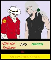 Greed and Niko: The Confrontation (Future Comic) by animedugan