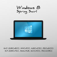 Windows 8 Spring Swirl wallpaper by luisfccorreia