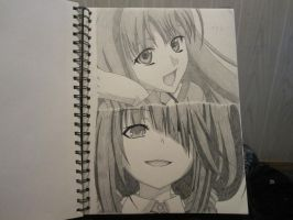 Holo and Kurumi (Requested) by XxSgtCampbell