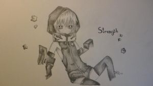 Strength -BRS- pencil by J-chan33