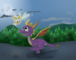 Spyro Running by Maria-Ben