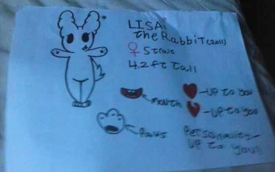 Lisa the Rabbit (adopt 10 point's) by HTFW