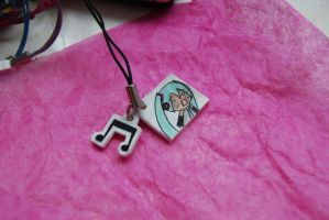 Hatsune Miku phone charm2 by olive-happy