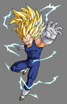 Vegeta Super Saiyan 3 by hsvhrt