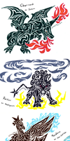 Tribal pokemon requests 1 by DragonDodo