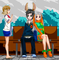 COMMISSION:  Kay, Brad and Alice by Spaca