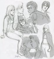 Babs and Dick Sketches by yellowis4happy