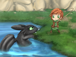 HTTYD: Fishing Time by Futomakki
