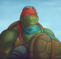 Because the world needs cute bara head-tucks by MsObscure