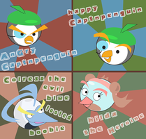 Schoolwork-Angry Bird designs by CaptnPenguin