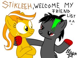 Stikleeh and me :D by BlackStar1127