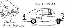 What if: 1955 Chevrolet fastback by stephdumas