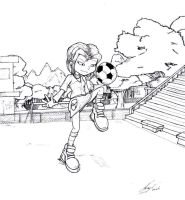 Lil and her Soccer Ball by NewEraOutlaw
