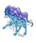 Pokemon Colored Pencil - Suicune 1 by SapphireIceAngel