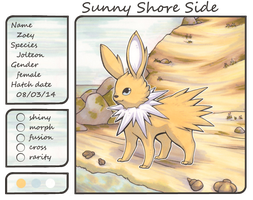 Zoey the Jolteon by Yakalentos