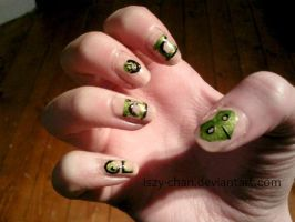 Green Lantern Nails by Iszy-chan