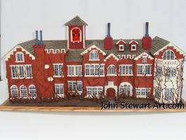 Rose Red house scale miniature for sale by johnstewartart