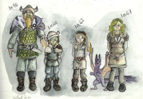 viking family coloured by payclo3
