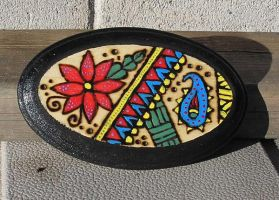 Small oval abstract plaque by StonerKitty