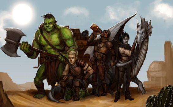 Commission: Group Shot by Olieart