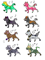 Adoptables Auction- Open by VelociyDrawing17