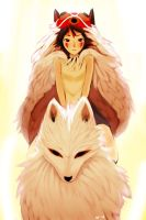 Mononoke Hime by blu-ion