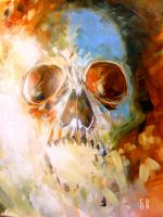 Combustible Skull by cbernhardt