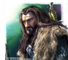 Thorin Oakenshield Speed Painting by BonnyJohn
