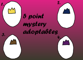 mystery 5 point adoptables by littleauthor12