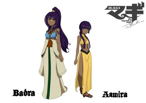 Magi Oc: Badra and Aamira by LenneWolf
