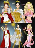 for the fairest: Hera, Athena and Aphrodite by LadyRaw90
