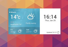 LG G3 Weather Original Widget for xwidget by jimking