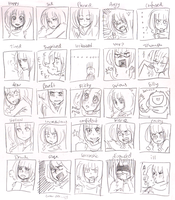 really messy facial expression meme by pearsfears
