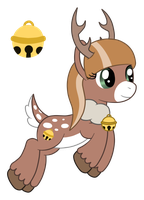 OC: Jingle Belle the Reindeer Pony by SilverRomance