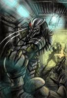 Predator vs Marine by Gallardose