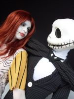 Jack and Sally by melkawaii