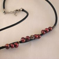 Cranberry Wrapped Choker by ErrantDreams