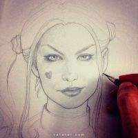 Margot Robbie as Harley Quinn WIP by rafater