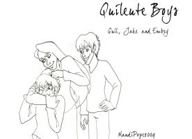 Quileute Boys Lineart by MandiPope